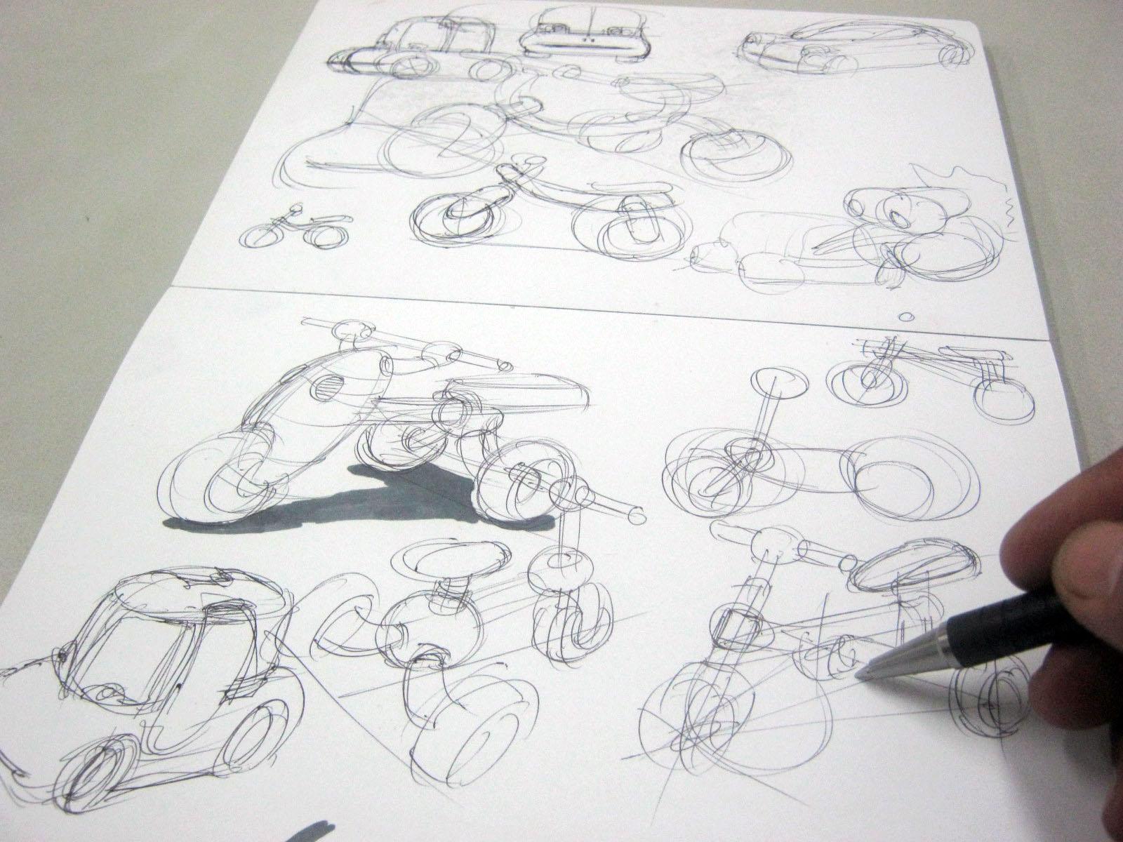 Render cepat gambar sketsa Teknik Sketsa Produk