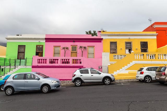 Casas de colores de Bo-Kaap, Ciudad del Cabo, Sudáfrica