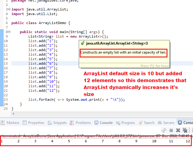 How the Size of the ArrayList Increases Dynamically?