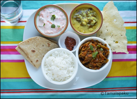 Green Beans Masala thali
