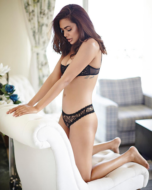 Esha Gupta hottest photoshoot in lingerie