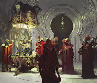 Red Wizards performing a ritual