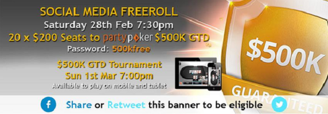 Party poker twitter freeroll passwords