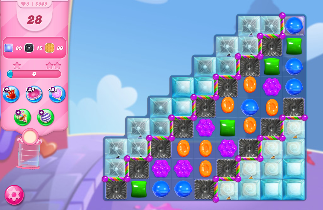 Candy Crush Saga level 5808