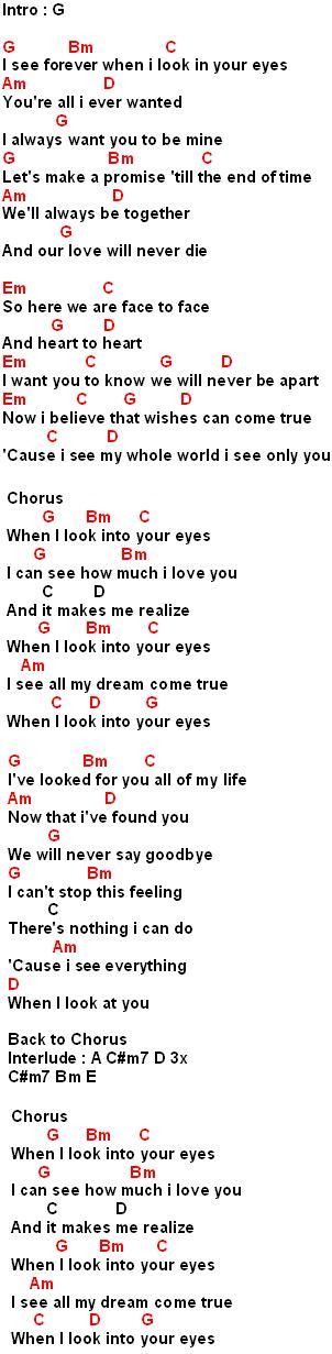 When I Look Into Your Eyes Lirik : lirik, Kunci, Gitar, :When, Eyes(Fire, House)-Chord,, Lirik, Review-, Chord, Indonesia, Terbaru