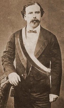 Manuel Pardo y Lavalle con la banda presidencial del Perú (1872 – 1876)
