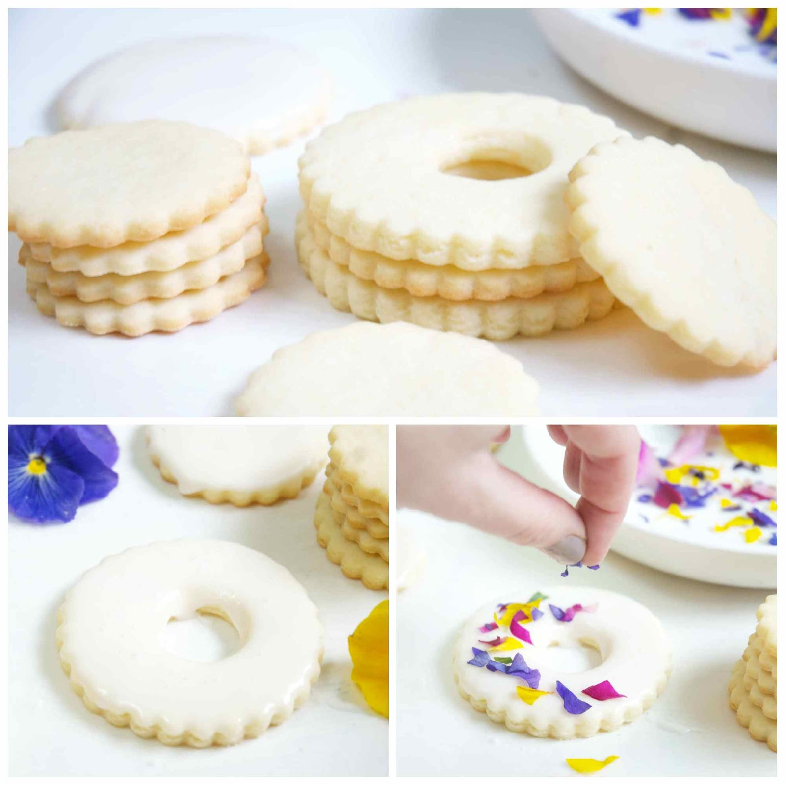 Shayda campbell edible flower stained glass cookies ive posted my sugar cookie recipe many times on the blog and no surprise thats the recipe ive used here cut the cookies in any shape you like izmirmasajfo