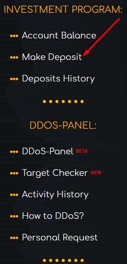 Создание депозита в DDoX