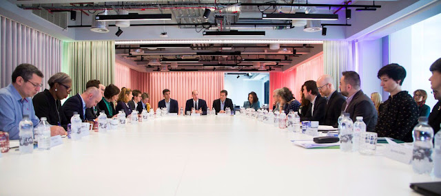 Wizyta księcia Williama w siedzibie Google i YouTube w Londynie