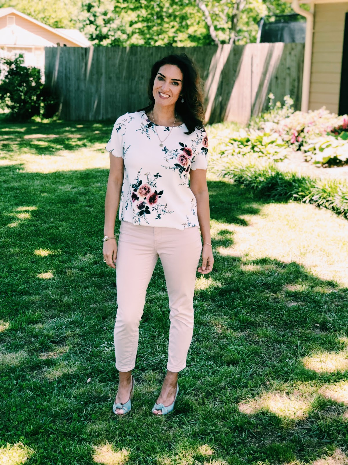 """Rocking Costco Pants With My Floral Top & The """"Shine"""" Tee Finds a Home"""