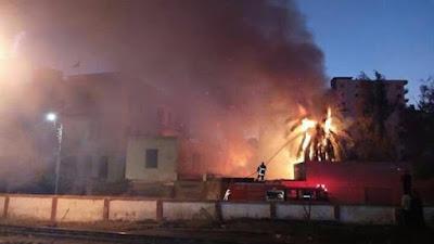 حريق ضخم - صورة أرشيفية