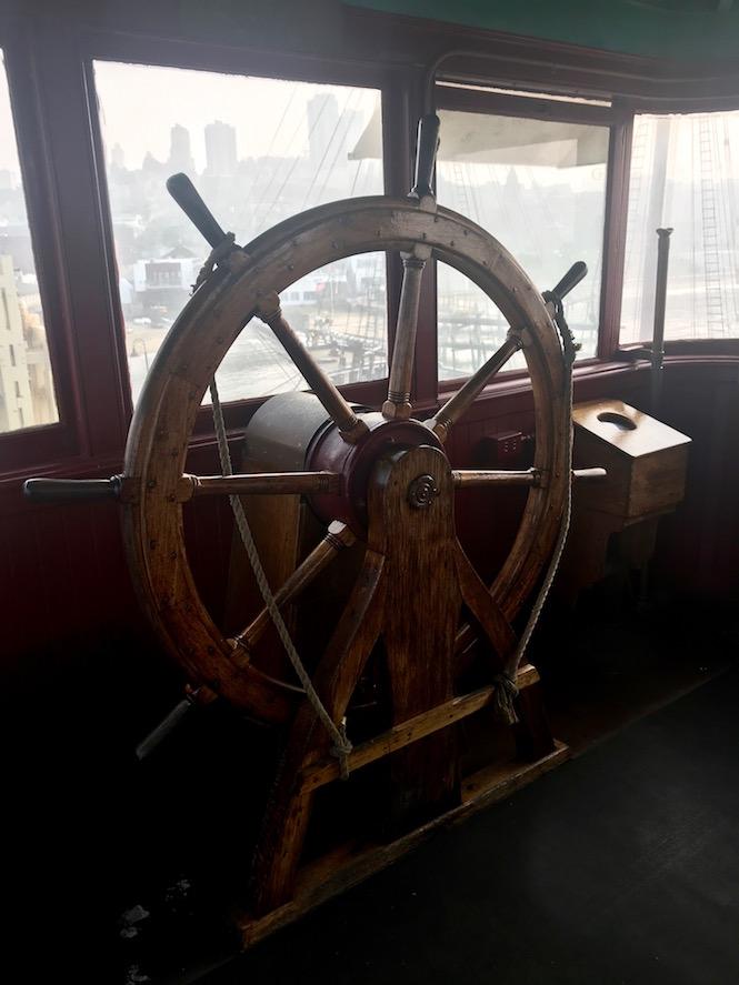 Eureka Ferry Captain Wheel