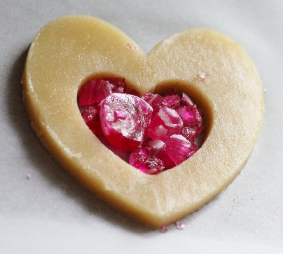 Candy Heart Shortbread Cookies Recipe - BirdsParty.com
