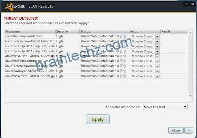 info stealer scan result