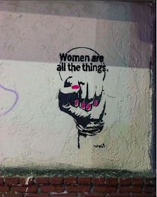MegZany, street artist, graphic art, Los Angeles street artist, graffiti, Women Are All The Things art, Melrose Avenue