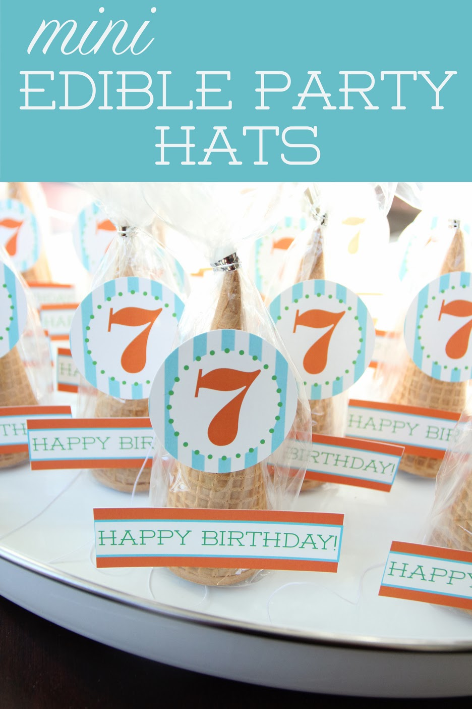 ... of Bliss: Mini Edible Party Hats and Free 7th Birthday Printables