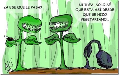 Humor veganos planta carnivora
