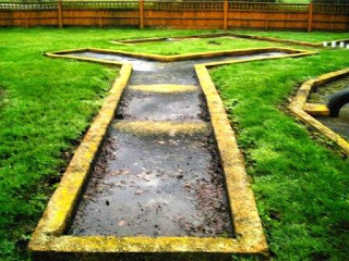 Crazy Golf course at the Horse and Harrow pub in West Hagbourne, Oxfordshire