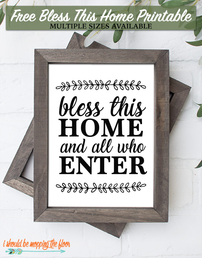 Home Blessing Printables