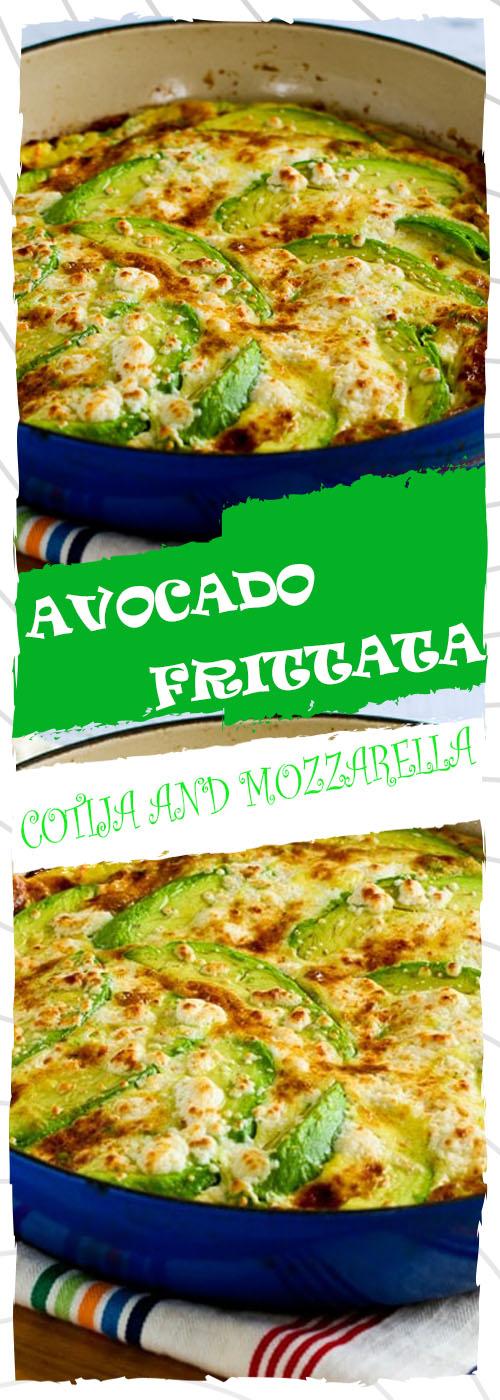 AVOCADO FRITTATA WITH COTIJA AND MOZZARELLA CHEESE RECIPE
