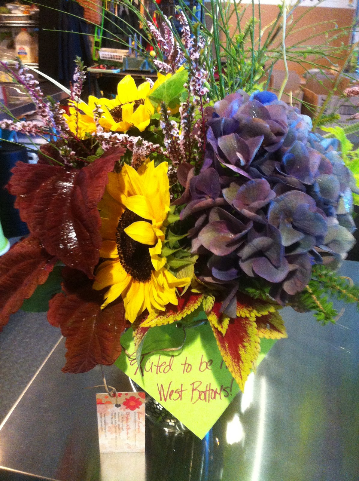 Flower classroom beautiful fall flowers for the antique district shops these designs were delivered to my neighbors in the historic west bottoms in the antique district which is just 2 blocks from the flower classroom izmirmasajfo