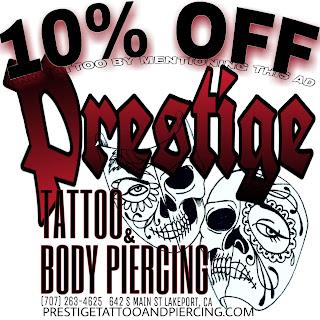 prestige tattoo and piercing lakeport, california