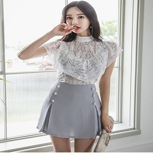 Laced Blouse Korea