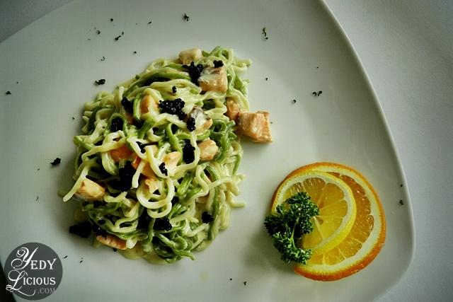 Caruso's Pasta with Salmon and Caviar