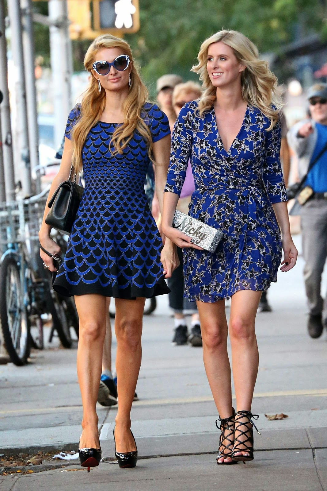 Arts Cross Stitch: Nicky Hilton and Paris Hilton out in SoHo