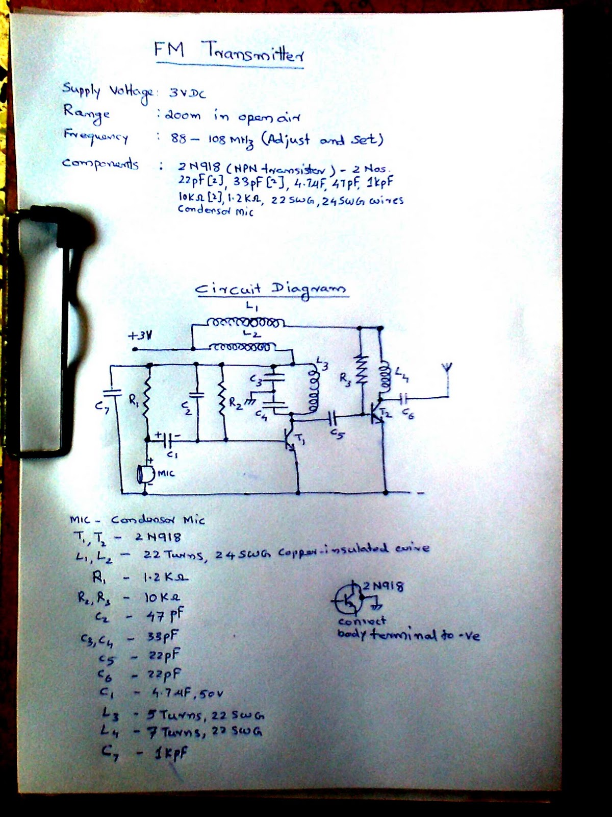 Fm Transmitter Circuits And Schematics Low Power Hobby Electronics