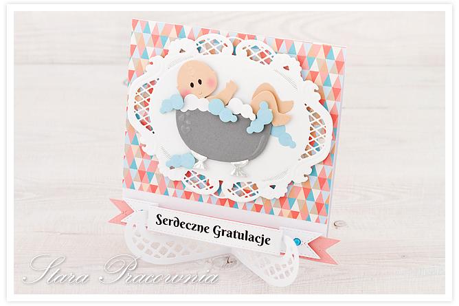 kartki ręcznie robione, kartka ręcznie robiona, scrapbooking, cardmaking, kartki z okazji narodzin, gratulacje z okazji narodzin dziecka