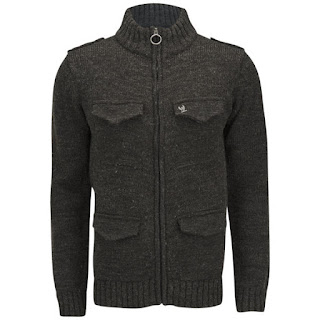 Bench Men's Klunk Cable Knitted Cardigan - Navy. 18,35€
