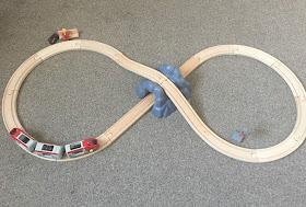 Brio wooden railway set and train