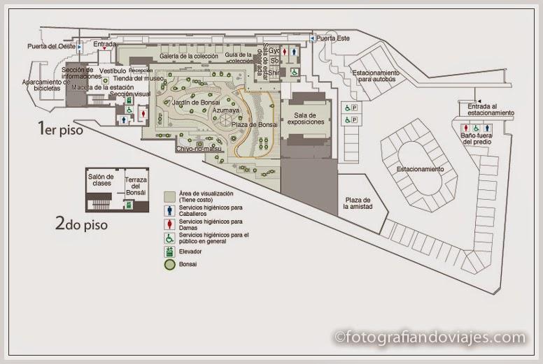 Plano del museo de arte del bonsai en Omiya