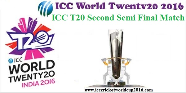 ICC T20 Second Semi Final Match Result 2016