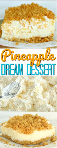 (Almost) No-Bake Pineapple Dream Dessert