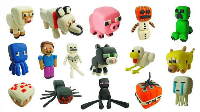 раз игрушки майнкрафт из пластилина картинки забудьте
