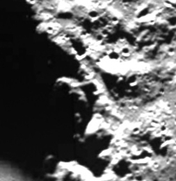 Moon anomalies from NASA's own panorama image taken from Google Moon.