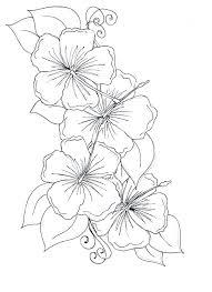 Kumpulan Sketsa Gambar Bunga Hitam Putih Untuk Diwarnai Terbaru