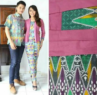 Model Kebaya Batik Kutu Baru Couple Clasik Modern 2018