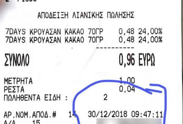 Πάτρα: Τους έκαψε αυτή η απόδειξη – Το πρόβλημα δεν ήταν οι τιμές των προϊόντων (photo)