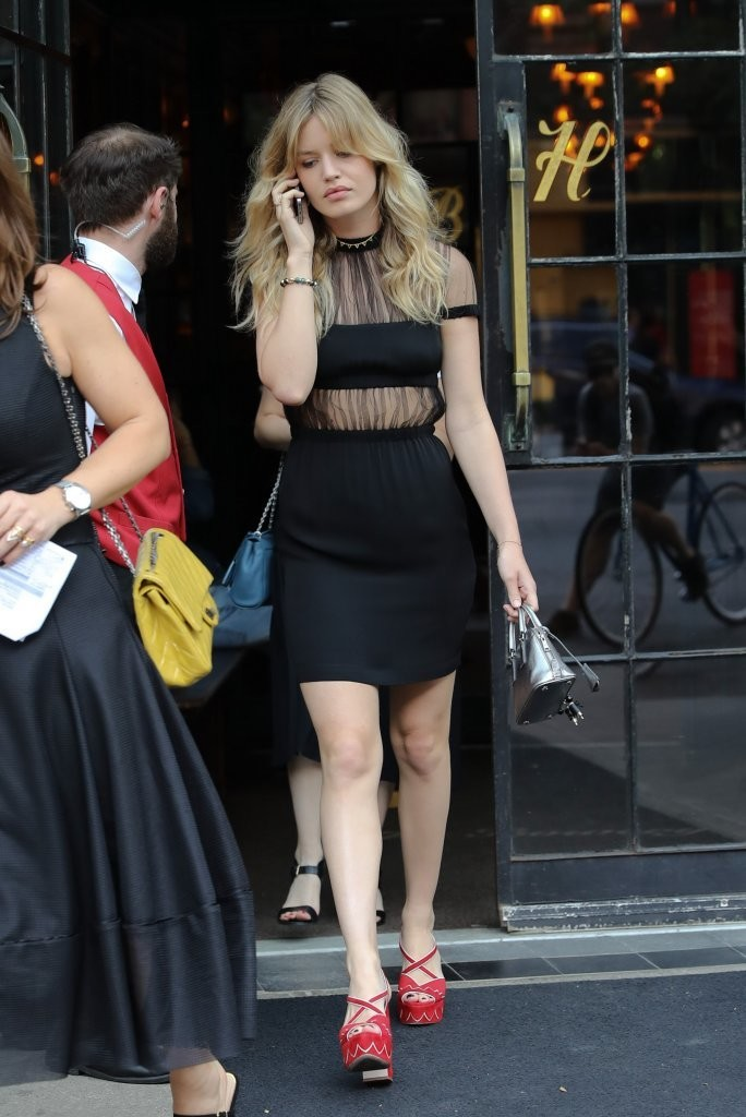 Georgia May Jagger Wears a Sheer Black Dress in NYC