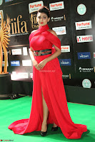 Apoorva in a Stunning Tight Leg Split Sleeveless Red Gown at IIFA Utsavam Awards 027.JPG