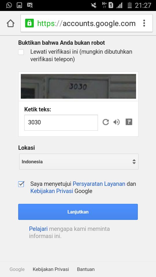 Cara Membuat Email Gmail Lewat Hp Android