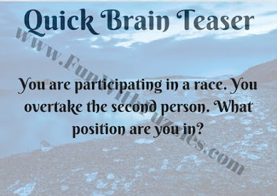 Quick Brain Teaser of Race
