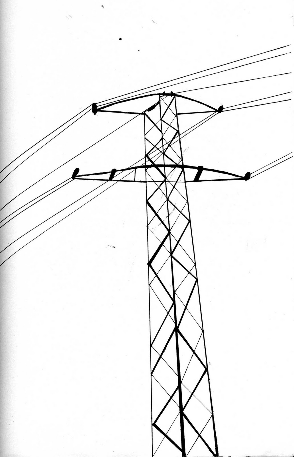 Drawings Electric Pole