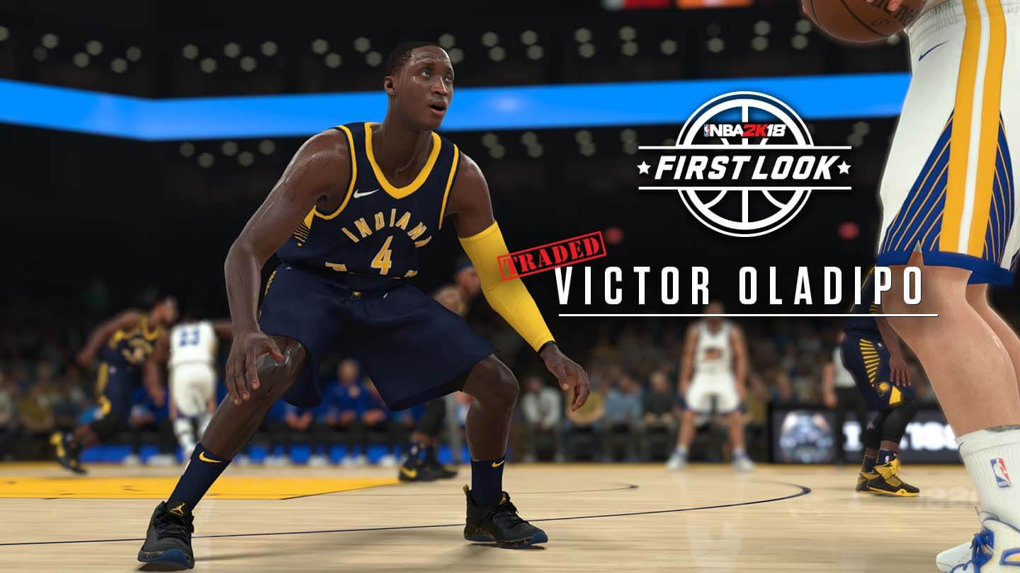 NBA 2K18 screenshot of Victor Oladipo in the new Pacers uniform