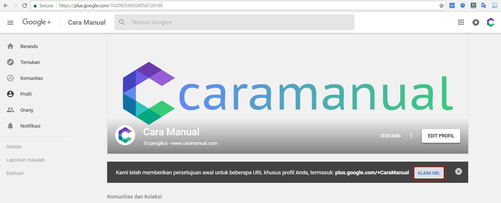 Cara Mendapatkan URL Khusus Untuk Profil Google+ 1