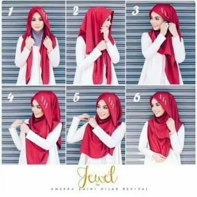 Tutorial Hijab Segitiga Jilbab Bahan Kaos Terbaru