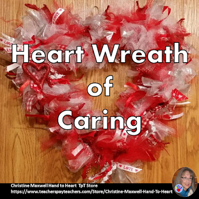 Heart Wreath of Deliberate Moments of Caring
